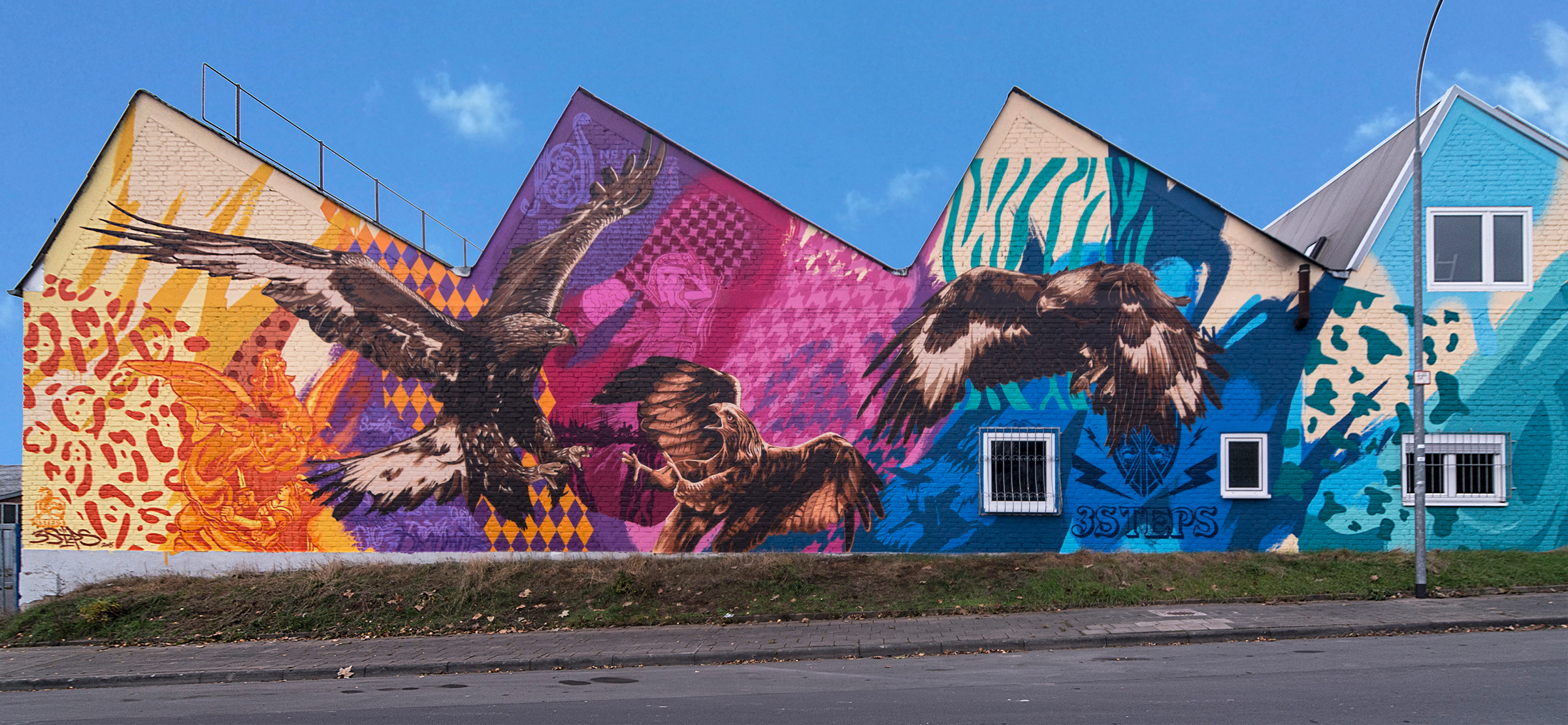 3Steps - Birds of Prey -Mural (1)