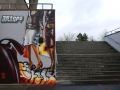 Street mural painted in February 2008 by SiveOne and Mr. Flash in Wetzlar.