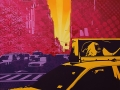 Spraypaint with stencils on canvas, 160x120 cm, handpainted by DocNova & SiveOne.