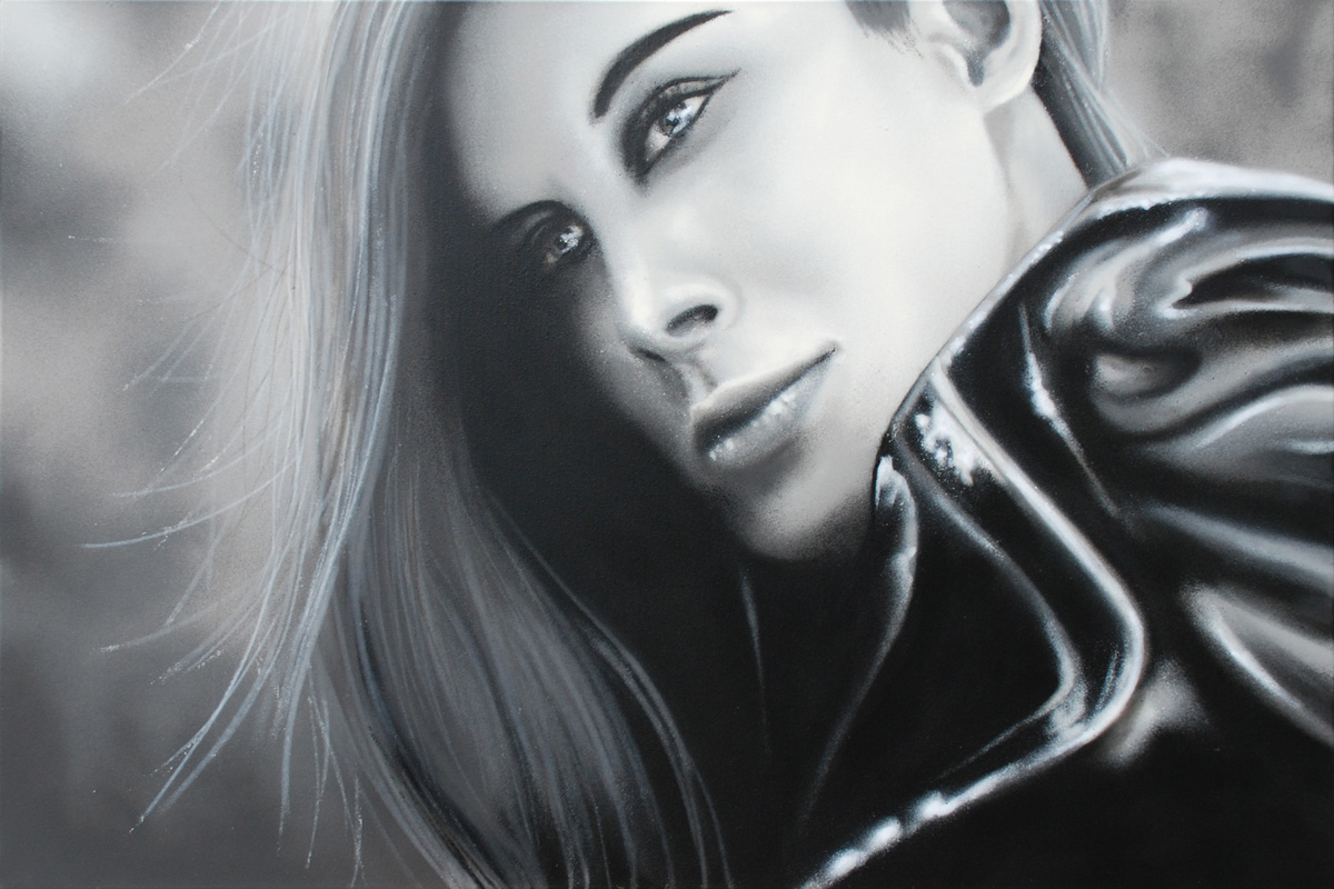 Spraypaint on canvas, 80x120 cm, handpainted by SiveOne.