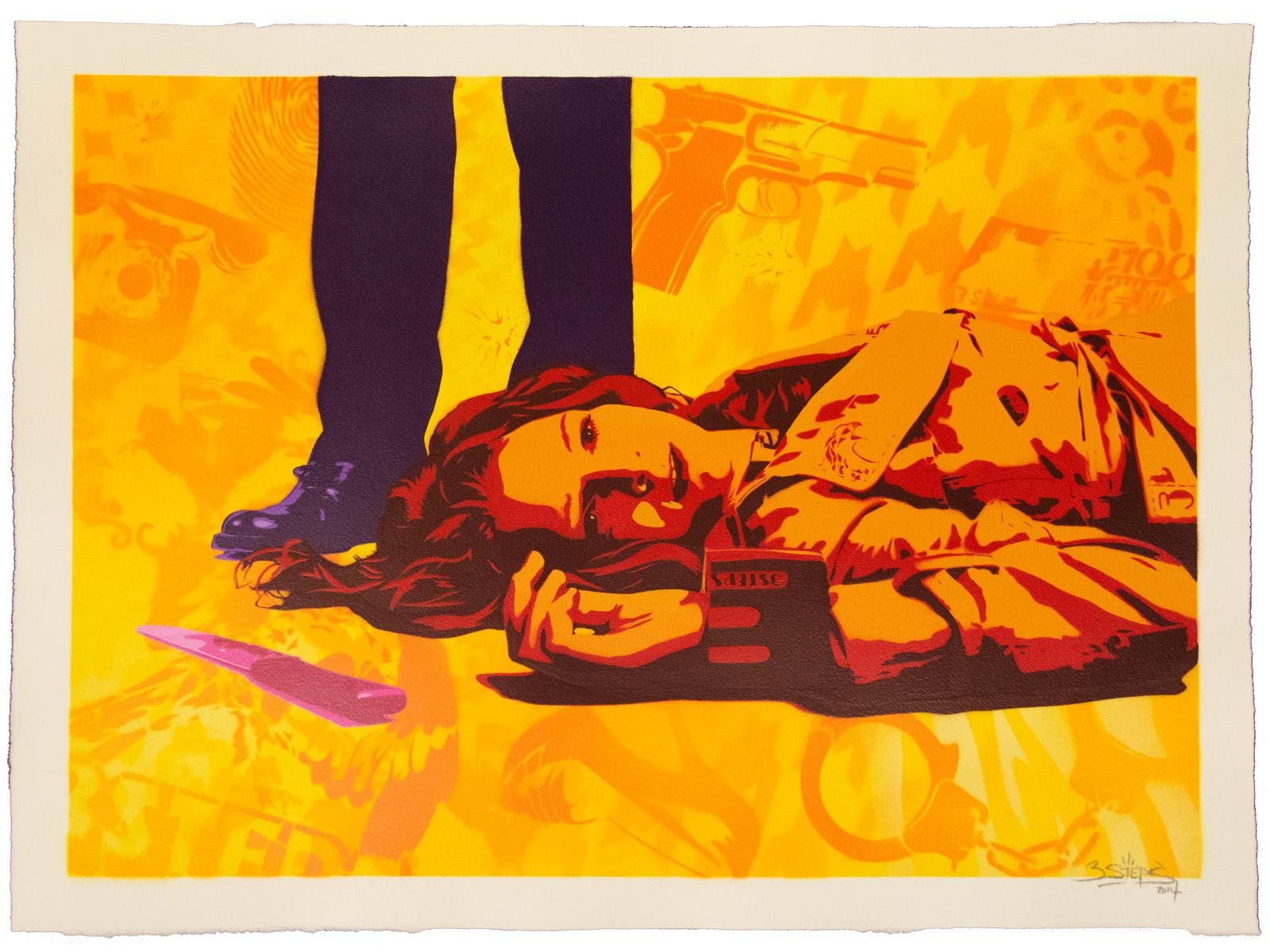 3Steps | Edition Krimifestival Gießen | 3Steps Krimi Gemälde