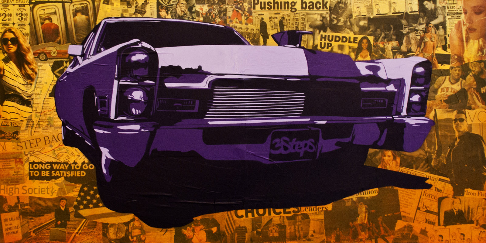 3Steps | Broken Cadillac | 2014 | Urban Art Exhibition