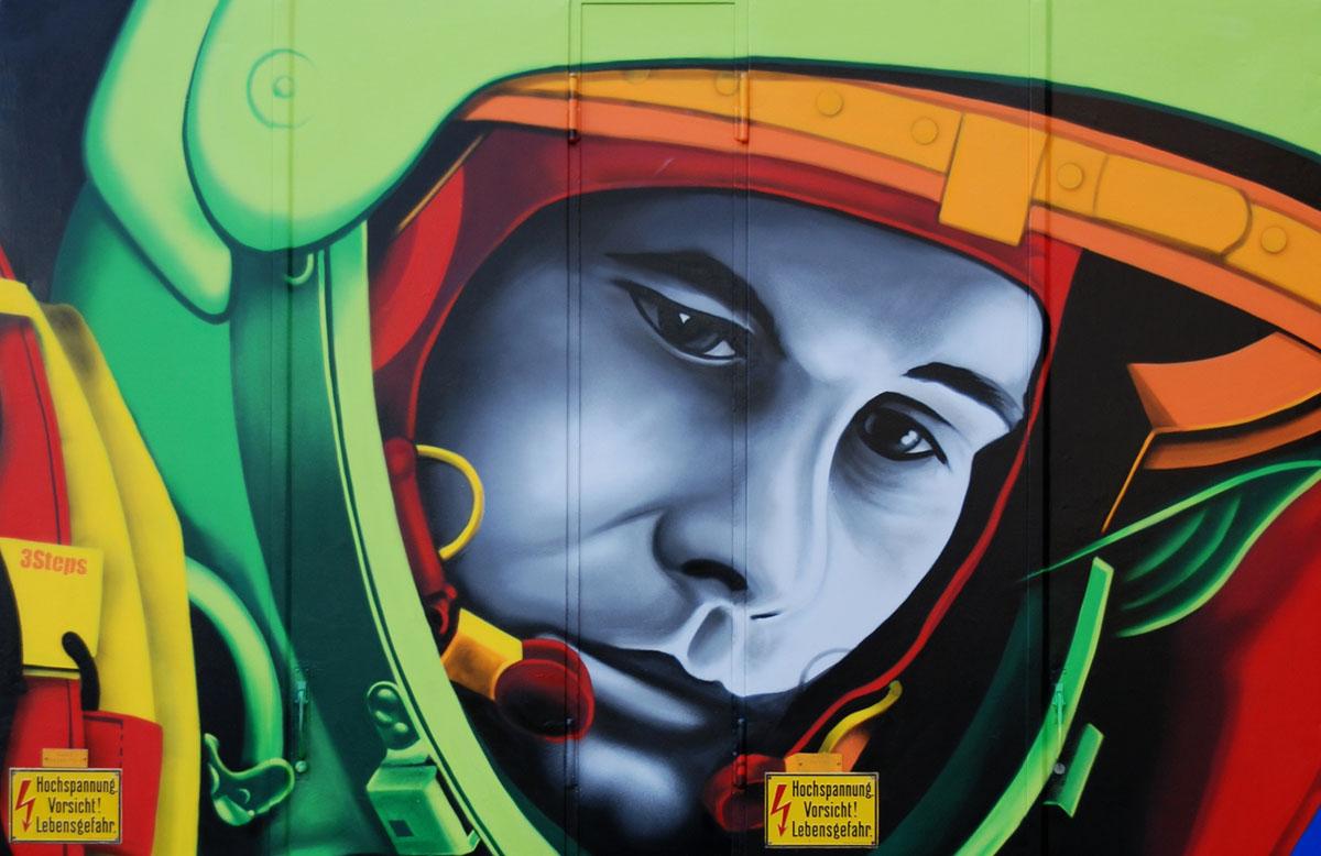 Art for Space | 3Steps | StartUp Weekend Space Bremen 2015 Winner| Yuri Gagarin