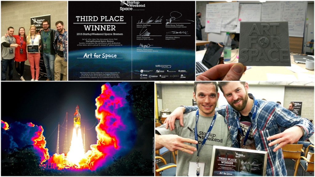 Art for Space | 3Steps | StartUp Weekend Space Bremen 2015 Winner